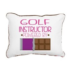 Golf Instructor Rectangular Canvas Pillow