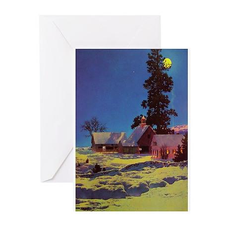 Moonlit Night in Winter - Maxfield Parrish