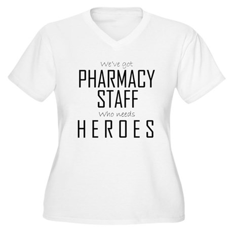 Who Needs Heroes? Women's Plus Size V-Neck T-Shirt