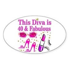 40TH PARTY GIRL Decal