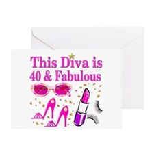 40TH PARTY GIRL Greeting Card
