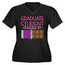 Graduate Stu Women's Plus Size V-Neck Dark T-Shirt
