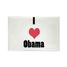 I Love (Heart) Obama Rectangle Magnet