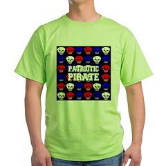 Patriotic Pirates Green T-Shirt