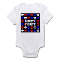 Patriotic Pirates Infant Bodysuit