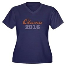 Obama 2016 Women's Plus Size V-Neck Dark T-Shirt