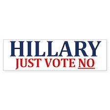Hillary Vote No Bumper Bumper Sticker
