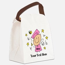 Cute Girl Graduate Canvas Lunch Bag