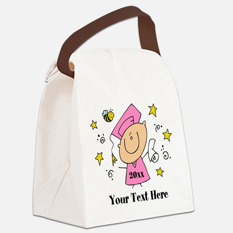 Cute Girl Graduate Canvas Lunch Bag
