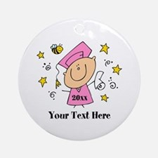 Cute Girl Graduate Ornament (Round)