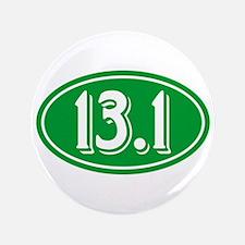 13.1 Half Marathon Oval Green Button