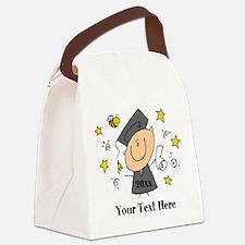 Cute Boy Graduate Canvas Lunch Bag
