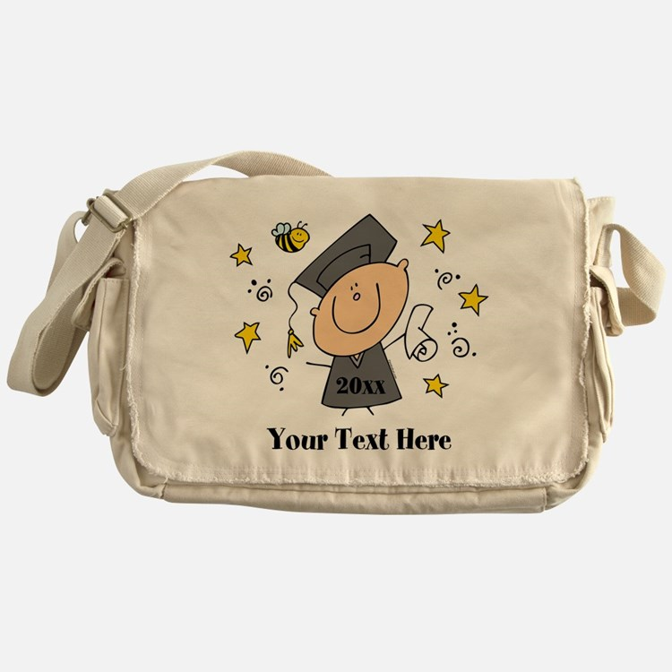 Cute Boy Graduate Messenger Bag