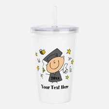 Cute Boy Graduate Acrylic Double-wall Tumbler