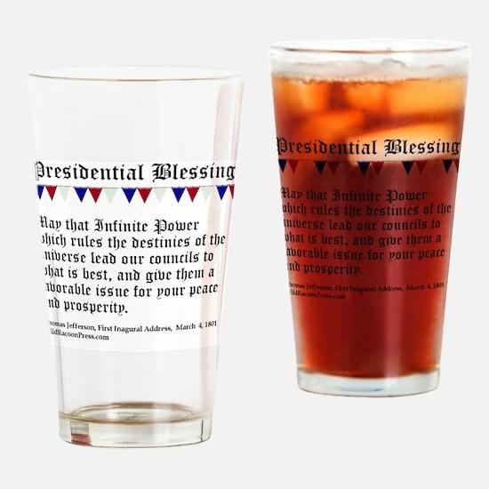 Presidential Blessing Drinking Glass