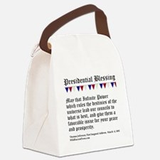 Presidential Blessing Canvas Lunch Bag