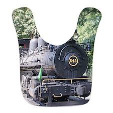 steam train close up shot Bib