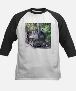 steam train close up shot Baseball Jersey