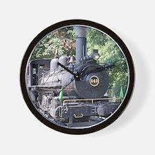 steam train close up shot Wall Clock