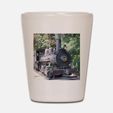 steam train close up shot Shot Glass