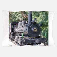 steam train close up shot Pillow Case