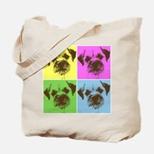 Neon Border Terrier Tote Bag