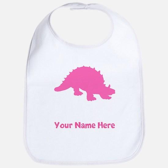 Ankylosaurus Silhouette (Pink) Bib