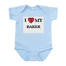 I love my Baker hearts design Body Suit