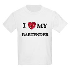 I love my Bartender hearts design T-Shirt