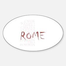 12 caesars Sticker (Oval)