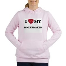 I love my Boilermaker he Women's Hooded Sweatshirt