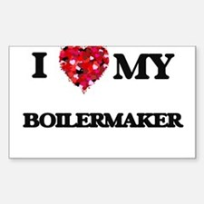 I love my Boilermaker hearts design Decal