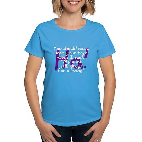 Aunt Sells Drugs Women's Dark T-Shirt
