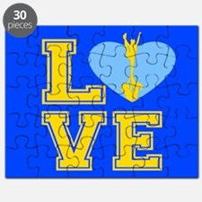 Blue and Yellow Cheerleader Puzzle