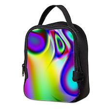 Rainbow Fractal Neoprene Lunch Bag