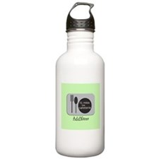 CUSTOM Text Cafeteria Sports Water Bottle