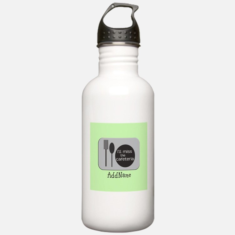 CUSTOM Text Cafeteria Water Bottle