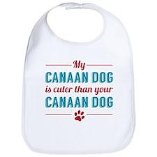Cuter Canaan Dog Bib