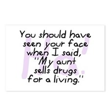 Aunt Sells Drugs Postcards (Package of 8)