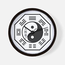 Tai Chi Symbol Wall Clock