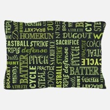 Fastpitch Softball Game Chalkboard Pillow Case