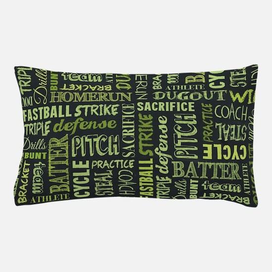 Fastpitch Softball Game Chalkboard Pillow Case