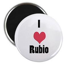 """I Love (Heart) Rubio 2.25"""" Magnet (100 pack)"""