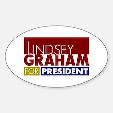 LIndsey Graham for President V1 Sticker (Oval)