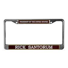 Rick Santorum for President V3 License Plate Frame