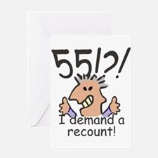 Recount 55th Birthday Greeting Cards