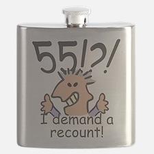 Recount 55th Birthday Flask