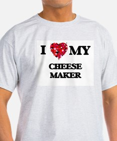 I love my Cheese Maker hearts design T-Shirt