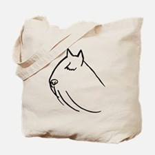 Bouvier Dog Head Sketch Tote Bag