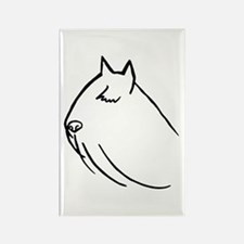 Bouvier Dog Head Sketch Rectangle Magnet (10 pack)